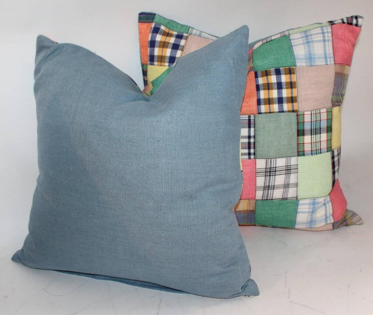 Quilt Patch Pillows / Collection of Four For Sale 1