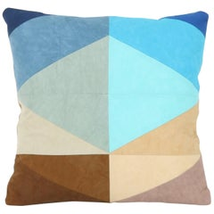 Quilted American Heritage Handmade Shoreline 16 inch Throw Pillow
