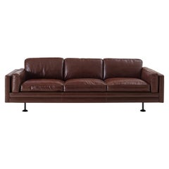 Quinto 3-Seater Leather Sofa