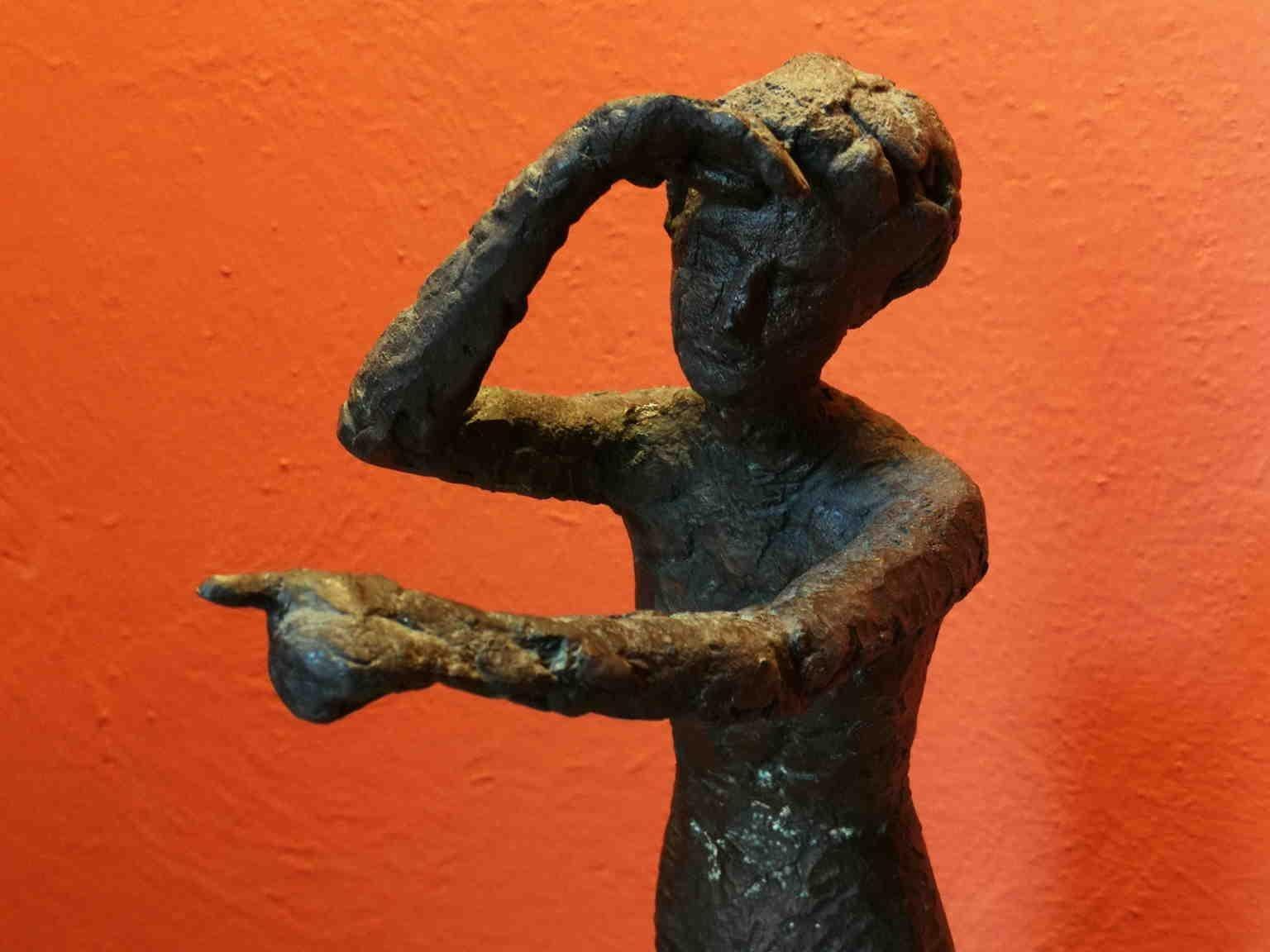Quinto Martini Female Abstract Bronze Statuette 20th century