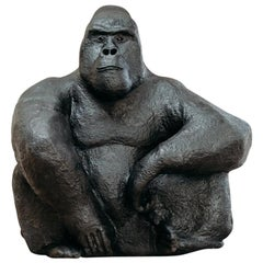 Quirky and Sturdy This Extra Large Papier Mâché Gorilla
