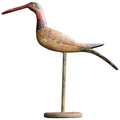Quirky Folk Art English Bird Figure