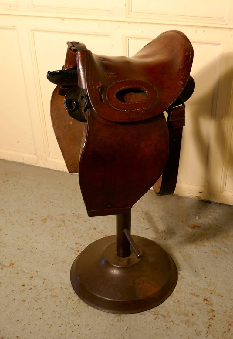 Quirky High Bar Stool Horse Saddle Bar Stool At 1stdibs