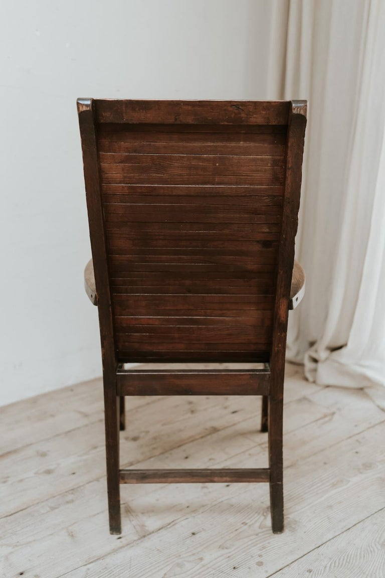 French Quirky Highback Wooden Chair For Sale