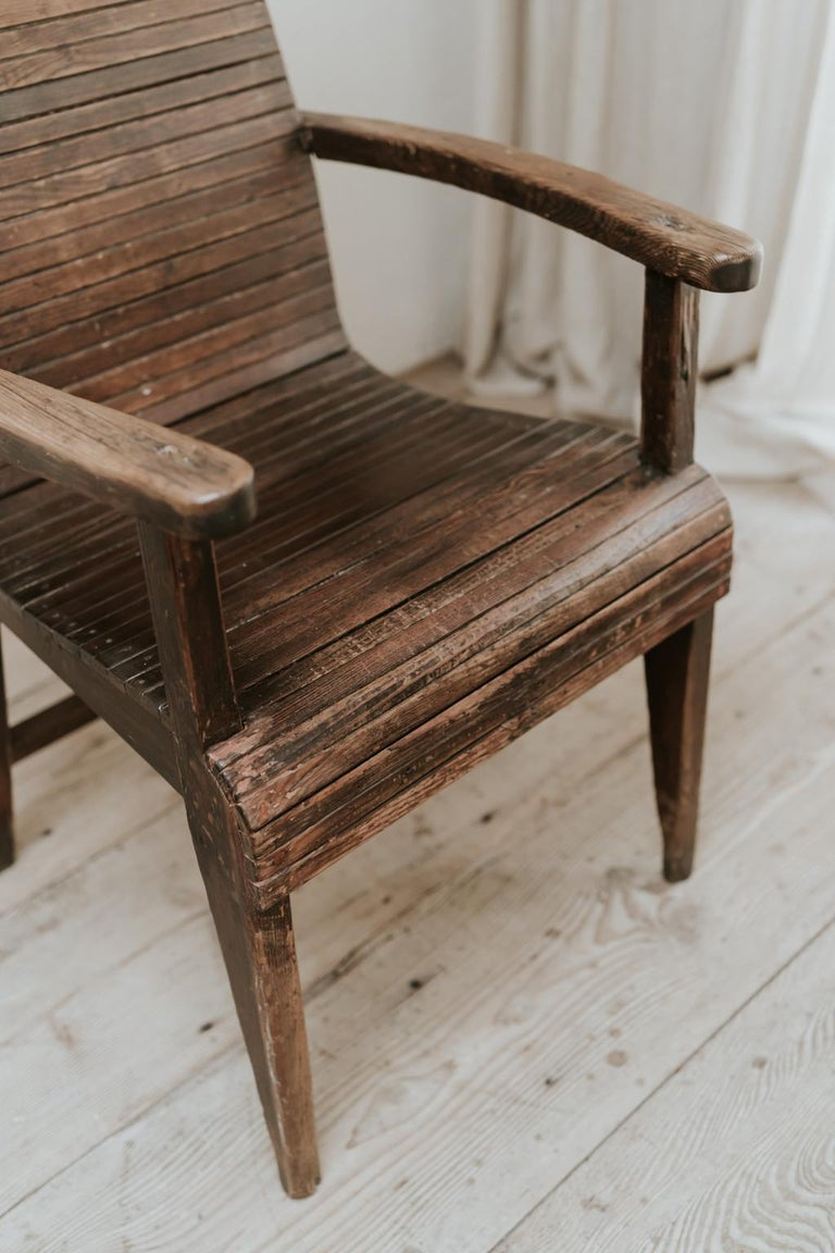 Quirky Highback Wooden Chair For Sale 1