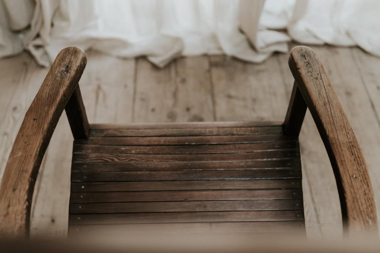 Quirky Highback Wooden Chair For Sale 2