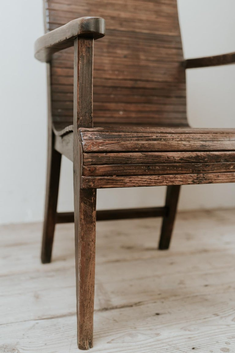 Quirky Highback Wooden Chair For Sale 3
