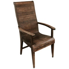 Quirky Highback Wooden Chair