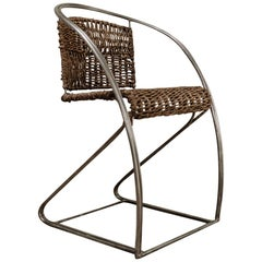 Quirky Iron/Rattan Chair