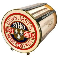 Quirky Retro Sylko Counter Top Cotton Reel Display Case Cabinet