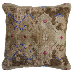 Quirky Square Turkish Rug Pillow
