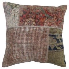 Quirky Turkish Patchwork Rug Pillow