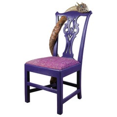 Quirky Upcycled Purple Dragon Chair, 20th Century