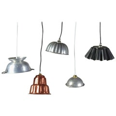 Quirky Vintage Kitchen Pendant Lights, 20th Century