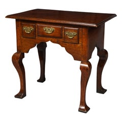 Quirky Welsh Oak Three-Drawer Table