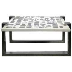 Qwerty Chrome Coffee Table