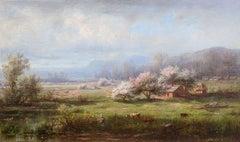 Spring Landscape by Régis François Gignoux (1816-1882, French)