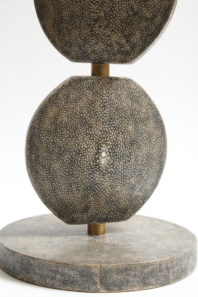 French R and Y Augousti Articulated Shagreen Lamp For Sale