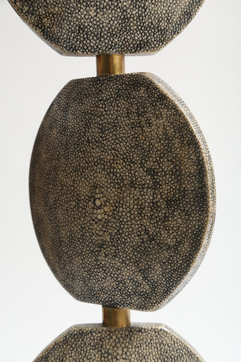 R and Y Augousti Articulated Shagreen Lamp In Good Condition For Sale In West Palm Beach, FL