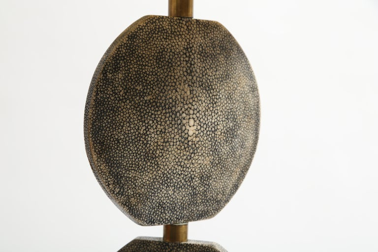 R and Y Augousti Articulated Shagreen Lamp For Sale 1