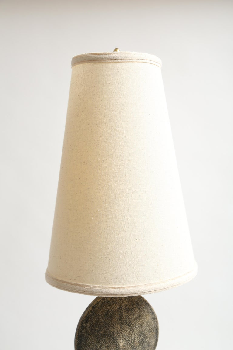 R and Y Augousti Articulated Shagreen Lamp For Sale 2