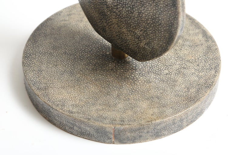 R and Y Augousti Articulated Shagreen Lamp For Sale 3