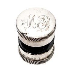 R. Blackington Sterling Silver Contact Lens Case with Monogram