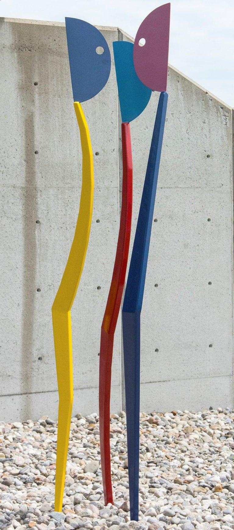 Interloper - Blue Figurative Sculpture by R. Clark Ellis