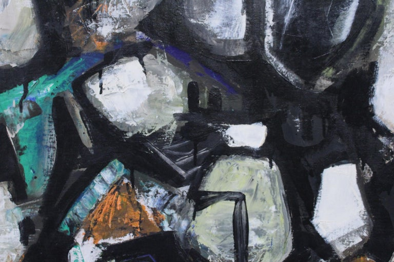 American R. E. Smith 1960 Abstract Oil on Canvas For Sale