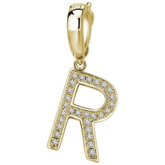 R Initial Pendant/Charm