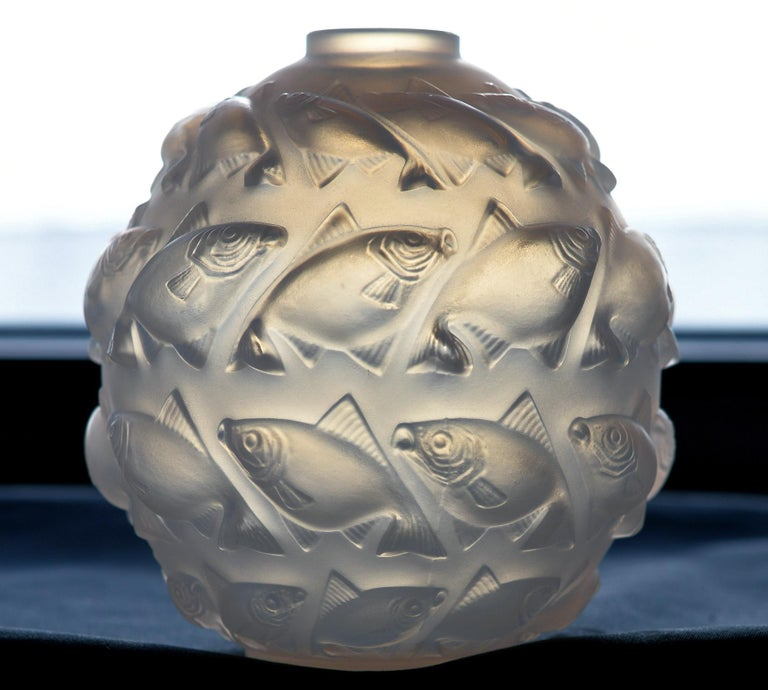 R. Lalique Camaret vase, No. 1010, 1928-1937, designed 1928, engraved R. Lalique France No. 1010, measures: Height 5.50 inches. Signed properly. No issues, ex private collection