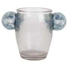 "R Lalique Vase ""Yvelines"" or ""Oreilles biches"""