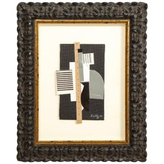 """R. Scott Lalley """"Collage with Perforated Paper Strip"""" 2009"""