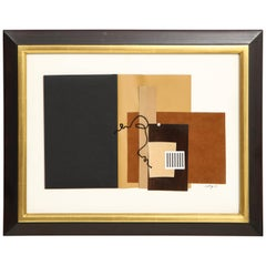 """R. Scott Lalley """"Unfinished Novel"""" 2014 Paper Collage on Paper with String"""