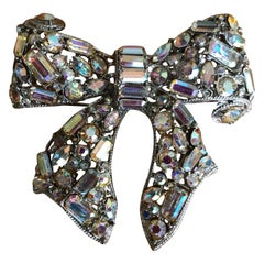 R. Serbin Giant Crystal A.B. Bow Pin 1985