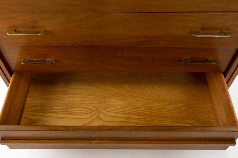 R-Way Mid Century Honey Walnut 7-Drawer Highboy Dresser For Sale 1