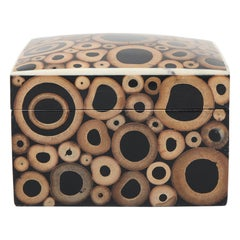 R & Y Augousti French Modern Bamboo Covered Box