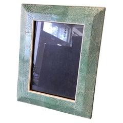 R & Y Augousti Green Snakeskin Picture Frame
