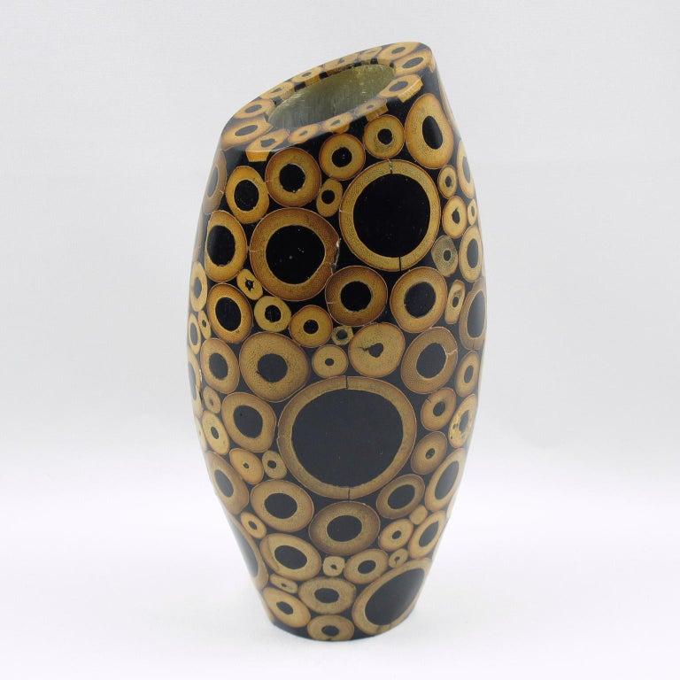 Modern R & Y Augousti Paris Bamboo Vase For Sale