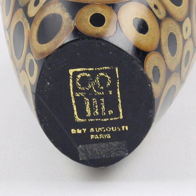 Late 20th Century R & Y Augousti Paris Bamboo Vase For Sale
