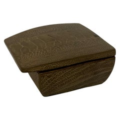 R & Y Augousti Paris Lizard Skin Jewelry Box
