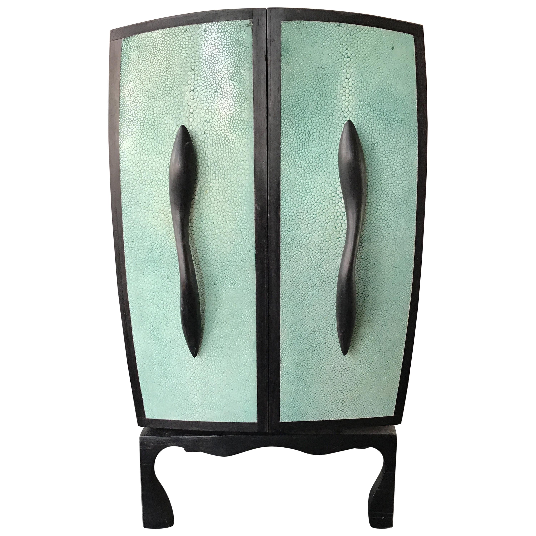 R & Y Augousti Shagreen Jewelry Box