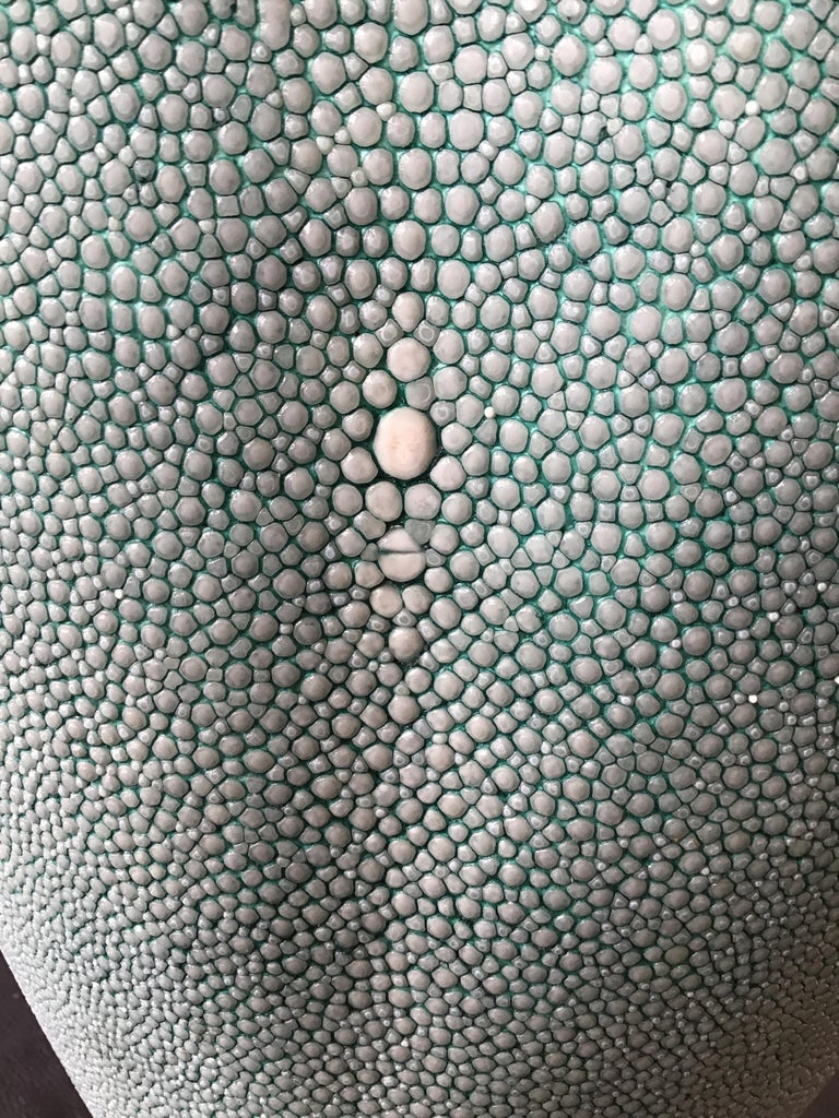 R & Y Augousti Shagreen Vase For Sale 6