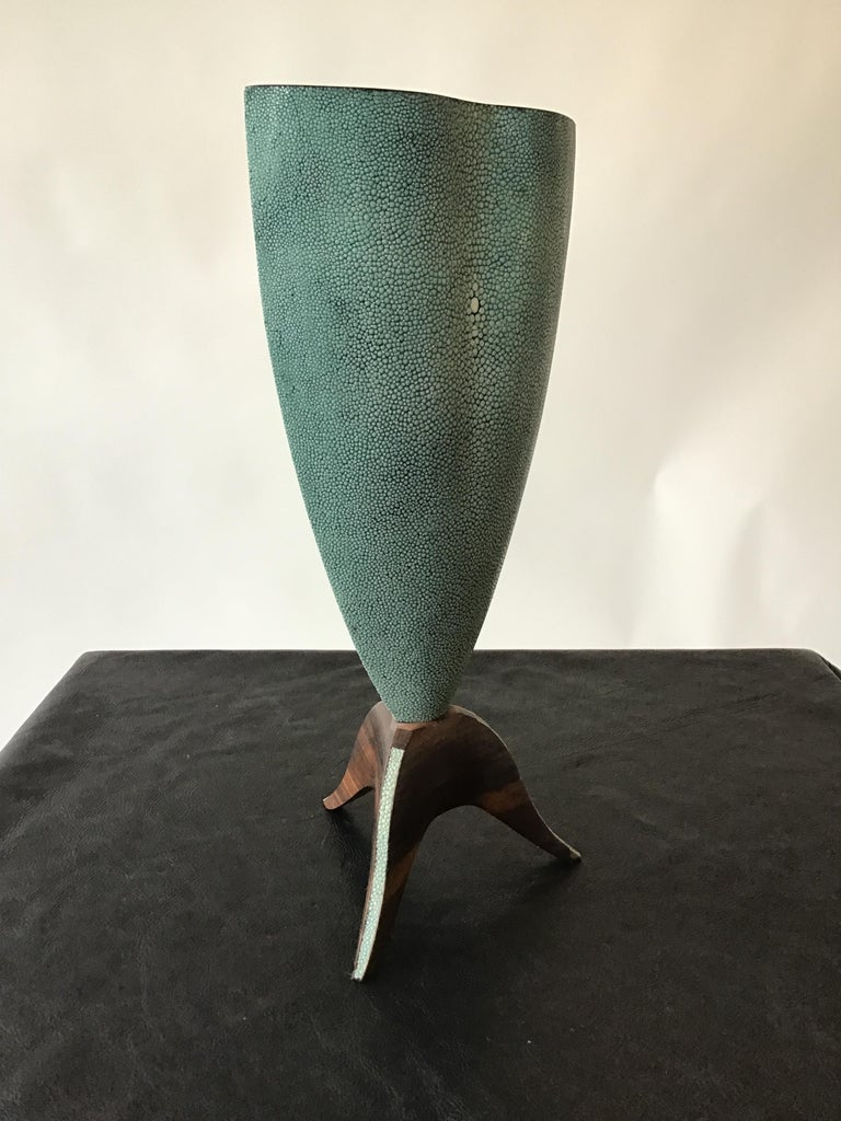 R & Y Augousti Shagreen Vase For Sale 1