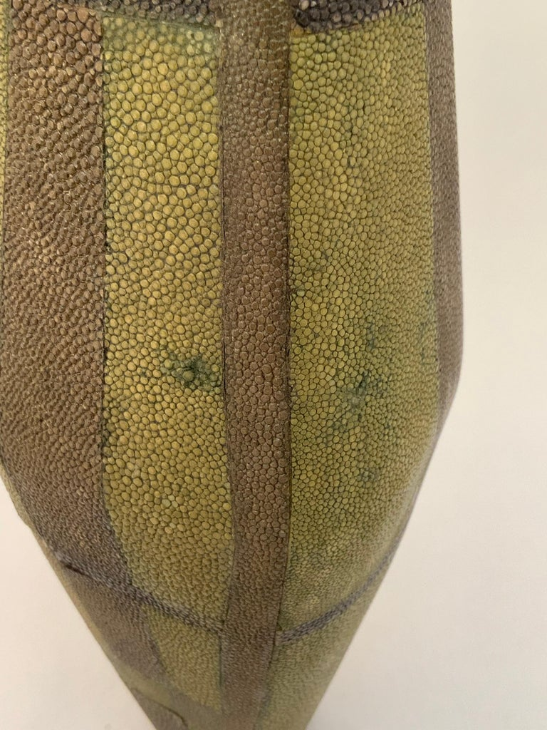 R & Y Augousti Shagreen Vase In Good Condition For Sale In Garnerville, NY