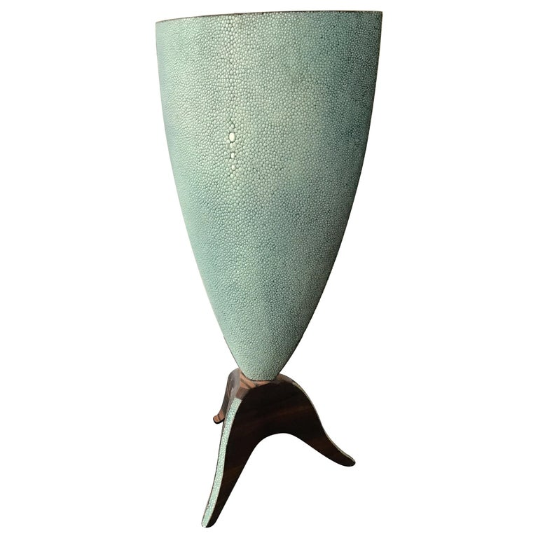 R & Y Augousti Shagreen Vase For Sale