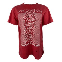 R13 Joy Division Red and White Graphic T-shirt, Size Small