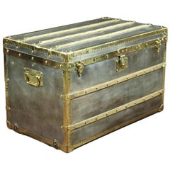 R1729 Louis Vuitton Steamer Zinc Trunk