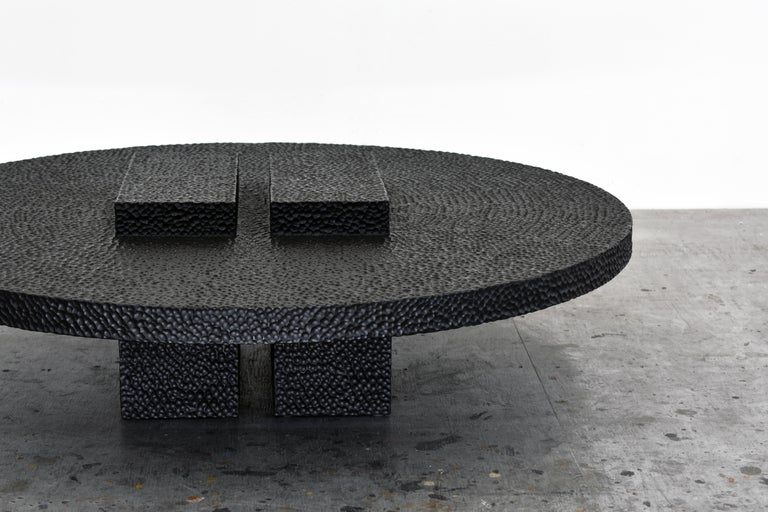 Hand-Carved R3 Coffee Table For Sale