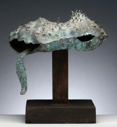 Latin American Raúl Valdivieso Bronze Organic Abstract Sculpture